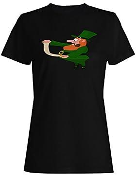 Novedad divertida del hombre irlandés del día de st patrick camiseta de las mujeres b257f