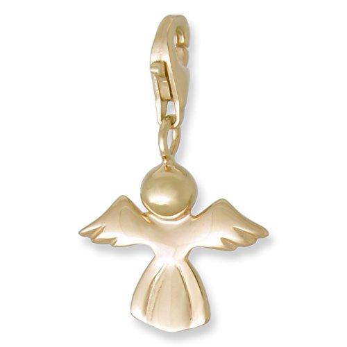 Melina Damen-Charm Anhänger Engel 925 Sterling Silber vergoldet Gelbgold 1801596