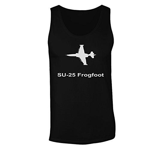 Jet su-25_frogfoot jet jet pilota jet vintage canotta da uomo c657mt Black