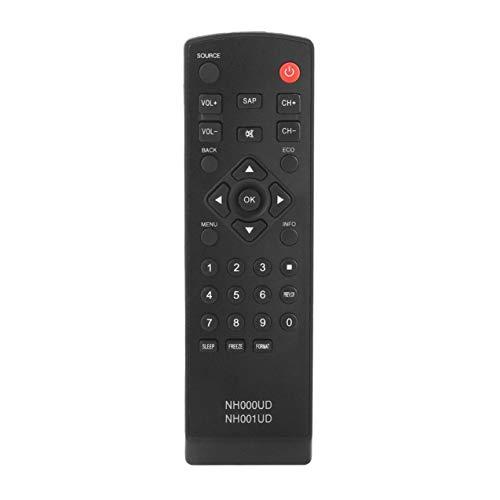 Streaming Media Player ,, Verstärker Fernbedienung, Ersetzt Fernbedienung NH001UD NH000UD passend für Emerson TV Fernbedienung Endstufe, LC320EM2 LC320EM1 LC401EM3F Schwarz