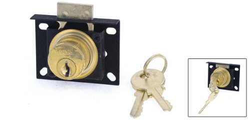 Schrank Vitrine Showcase Einzel Glastür Lock Black Gold Tone
