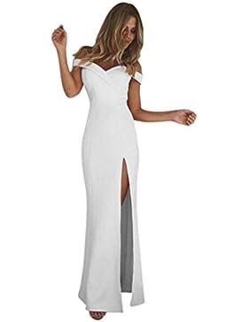Homebaby® Abiti Lunghi Donna Eleganti Off Spalla - Vintage Estivi Vestiti Casual Donna - Maxi Abito Abiti Donna...