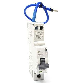 Neewlec 20 Amp Typ B 6 kA 30 mA RCBO Reststromschutzschalter mit Überlastschutz, einpolig