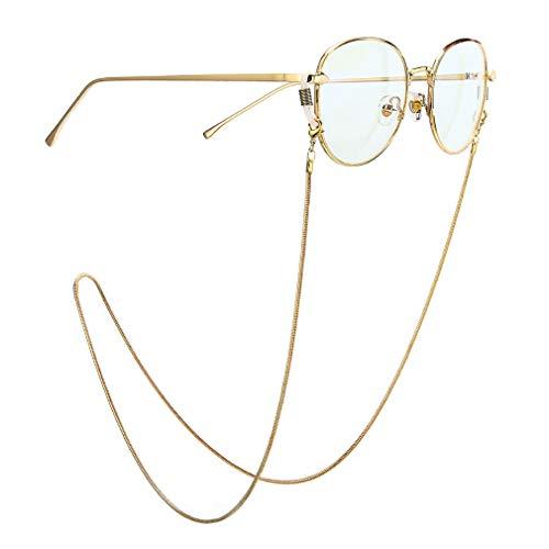 Fauhsto Brillenbänder & -ketten für Damen Glasses Chain Dekorative Gläserkette, Lesebrille Brillen Kette,Sonnenbrille Halter Gläser Cord Silikon Antirutsch Ringe