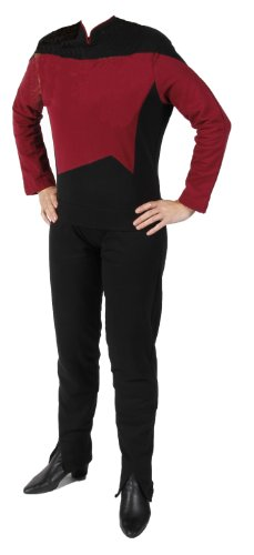 Star Trek - The Next Generation - Raumschiff Enterprise - Uniform Shirt + Hose - Rot - M (Star Trek Next Generation Kostüm Shirt)