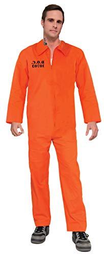 Forum Novelties Erwachsene orange Gefängnis Suit Unisex Kostüm (Orange Gefängnis Kostüm)