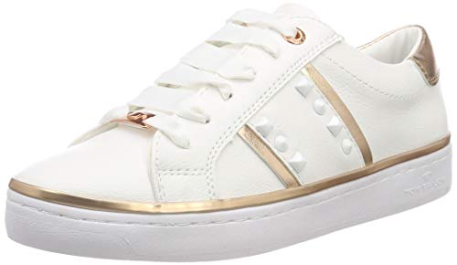 Tom Tailor 6992614 Sneaker Donna, Weiß (White 00002) 36 EU