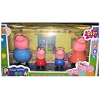 Pig Family Toy Set of 4 Pcs. with Pig House Set, Animated Toys for Kids by Ruhani Toys & Gift Gallery…