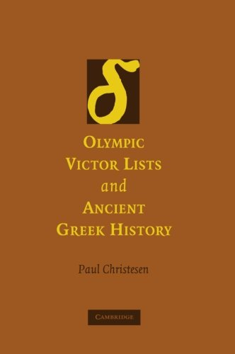 Olympic Victor Lists and Ancient Greek History Paperback por Christesen