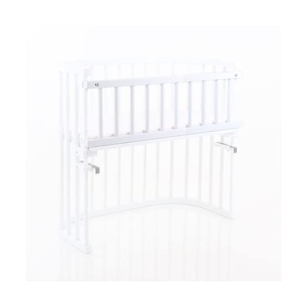 Babybay Guardrail for bedside sleeper Cot, White Varnished babybay Made of solid wood Comes with the locking clip Fit for original, mini and midi co-sleeper cot 2