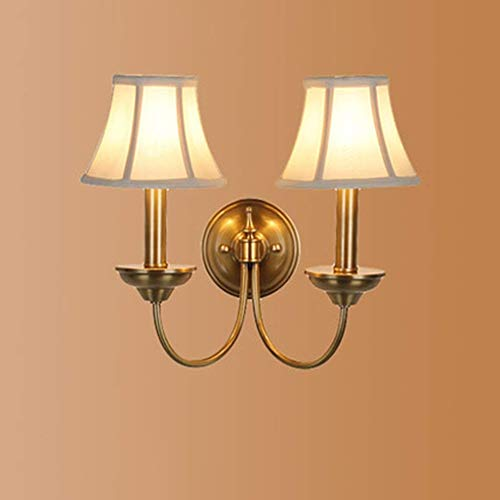 OLU Einfache Messing-Nachttischlampe Einfache Spiegelfrontleuchten Einzigartige Leuchtturm-Lounge-Mode mit Heimgebrauch,B -