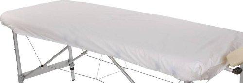 Spannbezug für Massageliege, Baumwolle, 195 x 70 cm, weiß