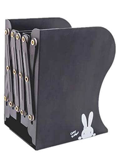 Sodhue Buchstützen Metall Stehend Buchständer Rahmen Faltbares Ausziehbare Buchstützen aus Metall Bürodekoration Studenten Bücherstützen DREI Spalte(120 * 130 * 190mm) -