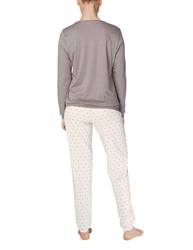 Calida Damen Zweiteiliger Schlafanzug Julianne Weiß (Star White 910)