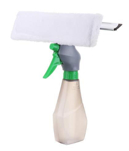 MYAMIA 3 In 1 Sprayer Glas Bürste Mikrofasertuch Kopf Kratzer Fenster Sauberes Auto Mop Werkzeug-Grün