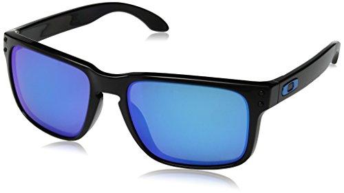 Oakley Herren Holbrook 9102f5 Sonnenbrille, Mehrfarbig (Polished Black), 57