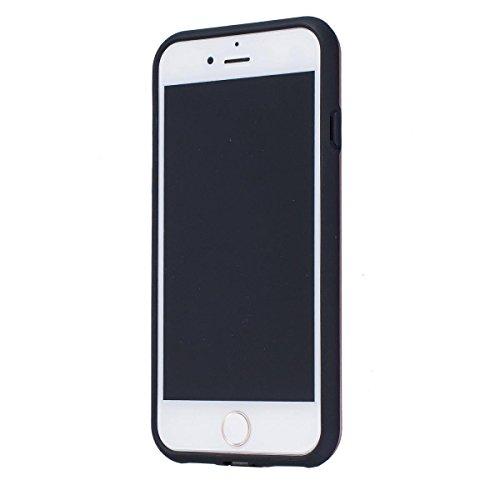 "MOONCASE iPhone 7 Hülle, Dual Layer Soft TPU + Rutschfest Hart PC Schale Anti-Shock Defender Schutz Tasche Schutzhülle Case für iPhone 7 (4.7"") Blau Rose Gold"