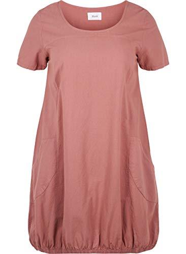 Zizzi Damen Weiches Kleid, Rosa (Rose 1371), 54 (Herstellergröße: XL (54/56))