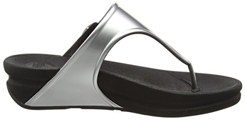 FitFlop Superjelly, Sandales femme Argent - Silver (Silver Mirror)