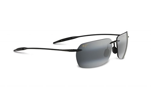 maui-jim-425-02-grau-schwarz-banzai-rimless-sunglasses-golf-cycling-running-driving