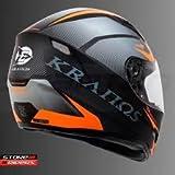 #5: Kranos Premium Quality Full Face Designer Helmet (Multi Colour)