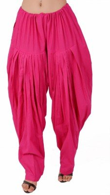 Yaari Pink Cotton Full Patiala For Women
