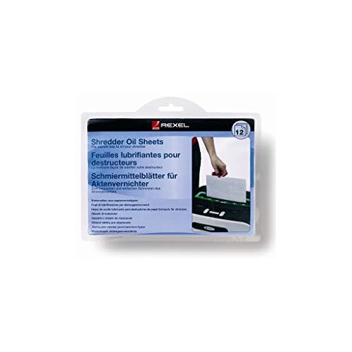 Rexel Aktenvernichter-Öl-Blätter 12 Stück für Schredder/Aktenschredder