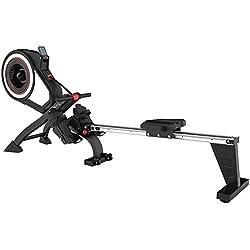 SportPlus Máquina de Remo Fitness para Uso Interior - Incluye Receptor de Ritmo Cardíaco de 5 kHz en de Remo - Máquina de Remo Plegable - Máx. Peso Usuario 150 Kg