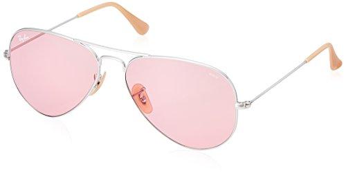 Ray-Ban Unisex-Erwachsene 0RB3025 9065V7 58 Sonnenbrille, Silver/Pink,