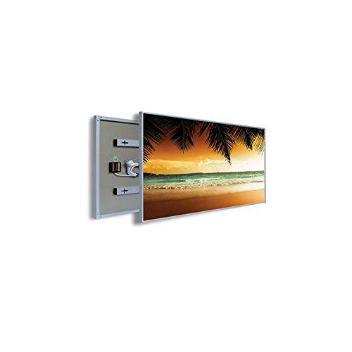 coldfig hting höchststufe 595 * 1005 Mm 600 W Argent Aluminium Surface Imprimer fernes – Panel Chauffage électrique radiateur mural infrarouge