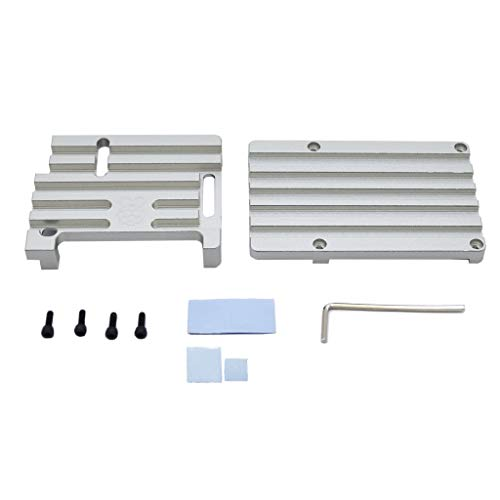 kofeilun Digital Figure Aluminiumlegierung CNC-Gehäuse Metallgehäuse Kompatibel mit Raspberry Pi 3 Modell B + (Plus) / 3B - 3-wege-blinklicht
