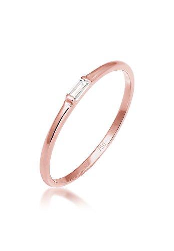 Elli Premium Ring Verlobung Liebe Zart Edel Geo Topas 750 Roségold