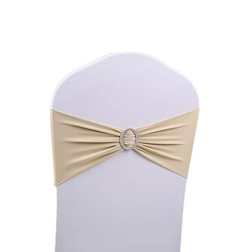 Gshy Stuhlhusse, 20 Stück, Decke, weiß, Universal, ausziehbar, für Dekoration, Hochzeit, Geburtstag, Party, 15 x 36 cm