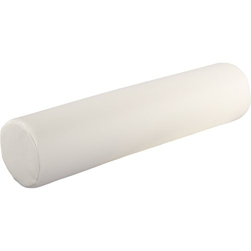 le weiß, 68 (L) x 15 (Ø) cm Lagerungsrolle, Kissen für Massageliege Knierolle Therapie Rolle Nackenkissen ()