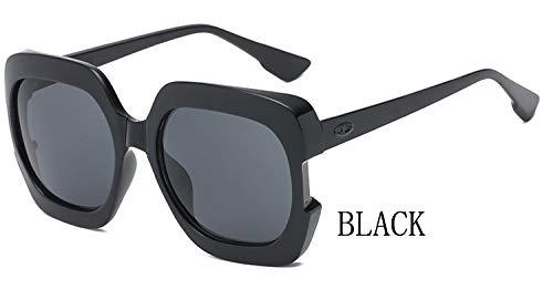 LKVNHP Stars Plastic Festival Celebrity Square Übergroße Damen Sonnenbrille Damen Oculos De Sol FemininoUV-SchutzWTYJ067 schwarz