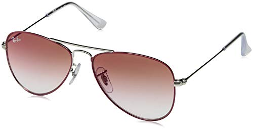 Ray-Ban Unisex-Erwachsene 0RJ9506S Sonnenbrille, Rot (Silver On Top Red), 50