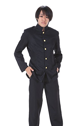 De-Cos Japanese Anime Cosplay Costume Black Male Formal School Uniform Outfit