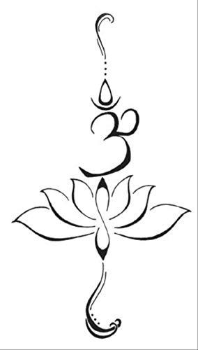 ZPF Tätowierung Wasserdicht Temporäre Tätowierung Aufkleber Nette Buddha Lotus Blumen Design Body Art Mann Frau Makeup - Kostüm Auto Flügel