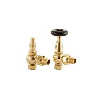 ARROLL UK20AB Antique Brass Finish Radiator Valves