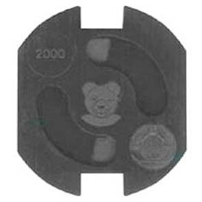 Steckdosenschutz, Teddy-Automatik, schwarz. 5 Stück
