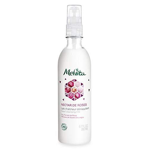 Melvita - Lait Démaquillant Fraîcheur Nectar De Roses 200Ml Bio - Lot De 2 - Vendu Par Lot - Livraison Gratuite en France
