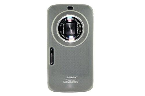 MoreGift4U Bunte Ultra Slim Thin TPU Gel Silikon-Schutz Fall-Abdeckung für Samsung Galaxy S5 Zoom Zoom K SM - C115 + Displayschutzfolie - Transparent