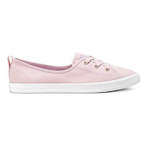 Lace Slip Sneaker (Converse Damen Ballerinas Chuck Taylor Ballet Lace Slip Plum Chalk (lila), Größe:42.5)