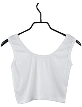 Morwind Chaleco Deportivo Mujer, Camisa Sin Mangas Mujer Blusas Mujer Verano Tops Mujer Crop Bustier y Corset...