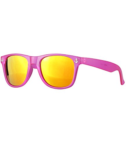 caripe Wayfarer Sonnenbrille verspiegelt - SP (frosted pink - Anker-w)