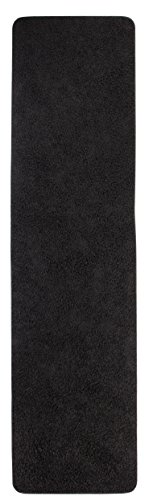 misento 292110 alfombra de pelo largo Shaggy, de pasillo, 67 x 250 cm, negro