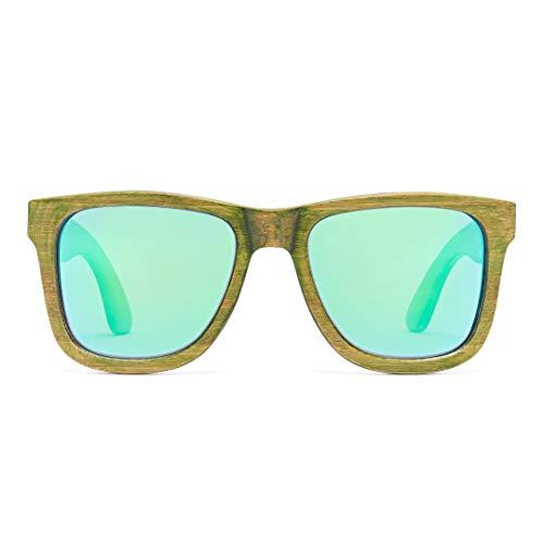 Bonizetti Unisex-Holz-Sonnenbrille Amsterdam UV 400 143mm