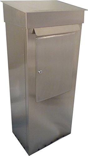 Großraumbriefkasten FLEXIBLE Edelstahl-V2A Entnahme von hinten oder vorne