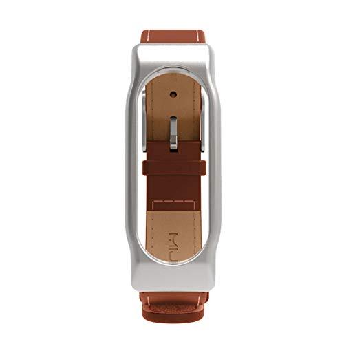Xiaomi Mi Band 2-Mijoas Cuero Elegante Pulsera de Reloj para Xiaomi Miband 2,Correa de Cuero con Correas de Piel de imitación Ultra-Delgadas Beikoard
