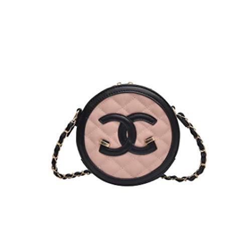 128cc015f4ae3 Damen Tasche Mode rhombische Umhängetasche wilde Messenger Bag lässig PU  kleine runde Tasche weibliche Kette Tasche